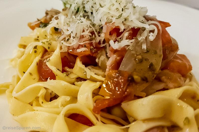 Frischer geht es nicht – Pasta im Barefoot Café