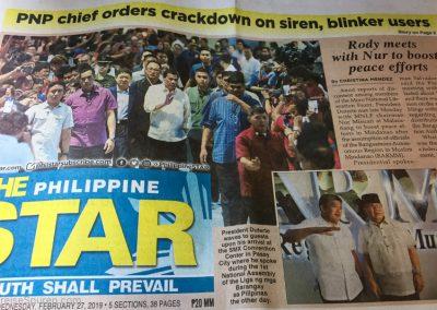 Präsident Duterte spricht