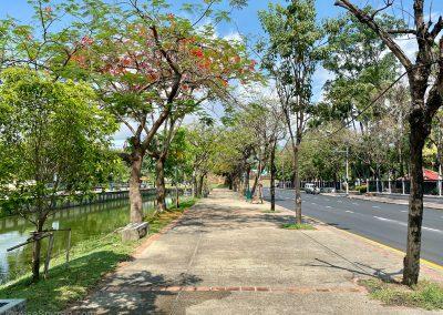 Leere Promenade